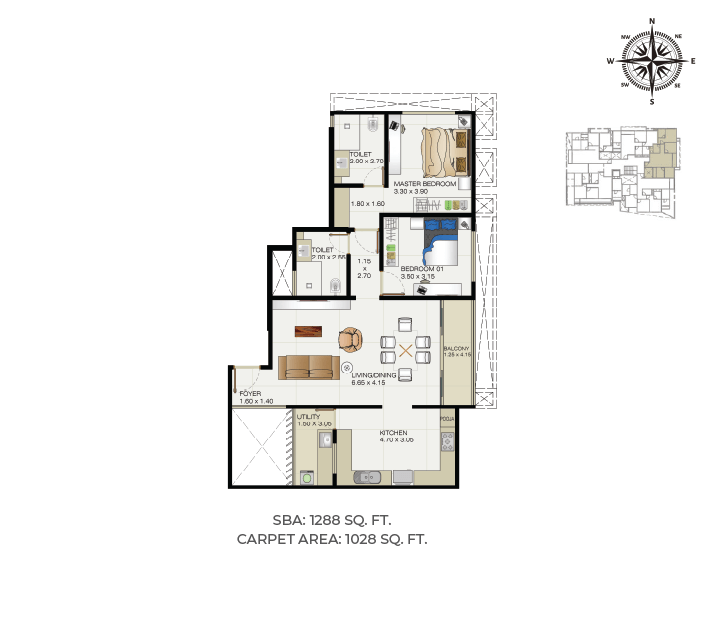 Blessed Apartments Floor Plans at Sunpure Homes