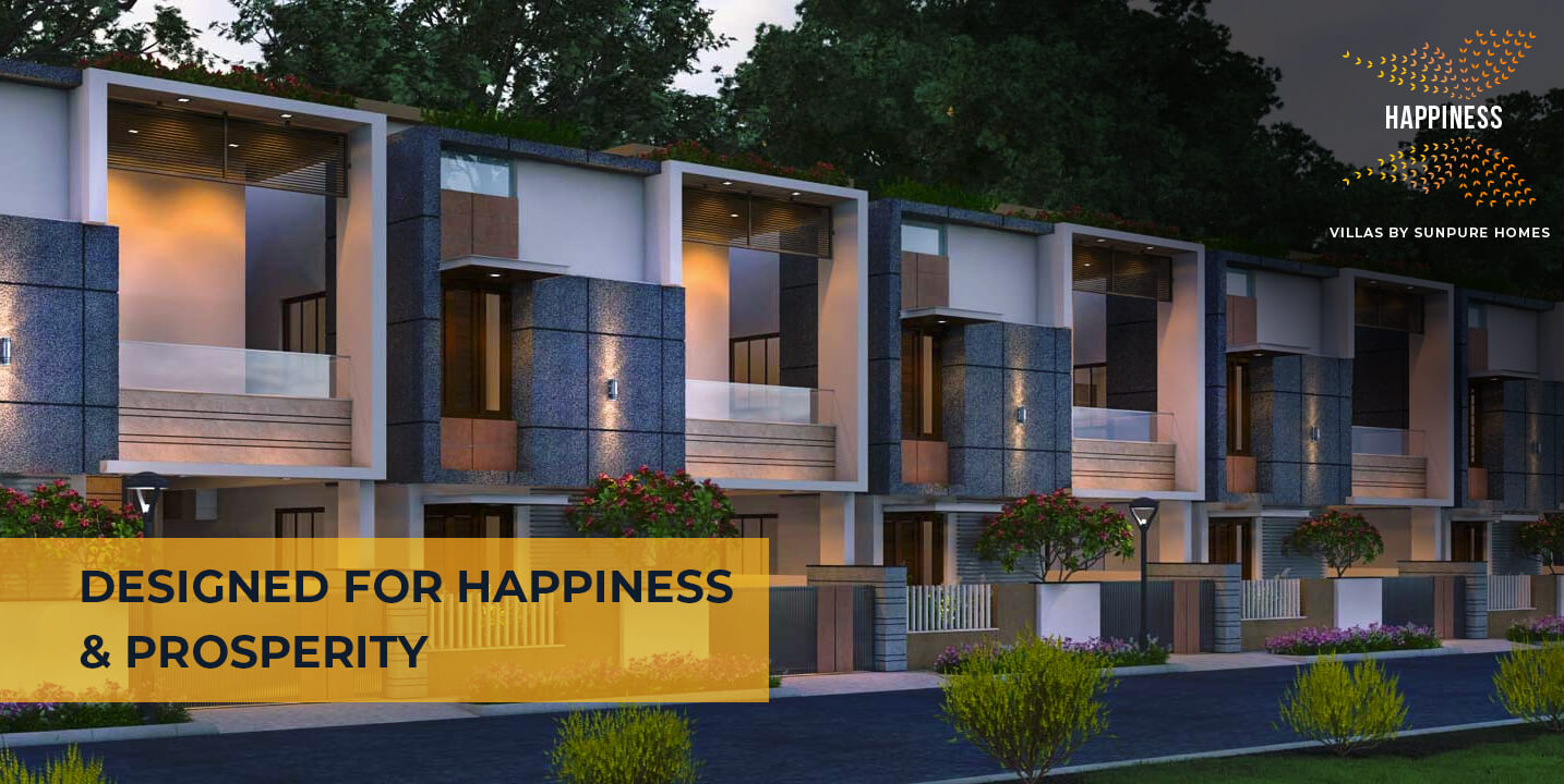 Happiness Villas designed for happiness & prosperity by Sunpure Homes